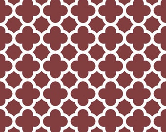 Quatrefoil in Burgundy (C435-55)