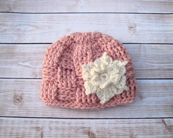 Crochet Baby Hat, Baby Girl Hat, Newborn Hat Baby Girl, Basket Weave Hat, Infant Girl Hat, Newborn Girl Hat, Girl Baby Hat, Girl Beanie,