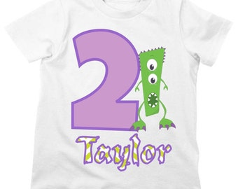 Monster Birthday Shirt or Bodysuit - Personalized Birthday Shirt
