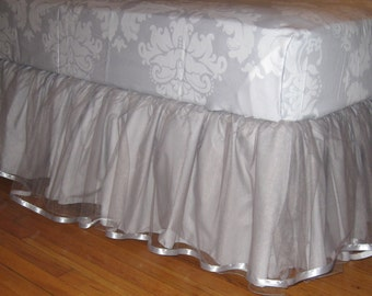 Daybed Tulle Bedskirt - Select Your Size - Multiple Colors Available