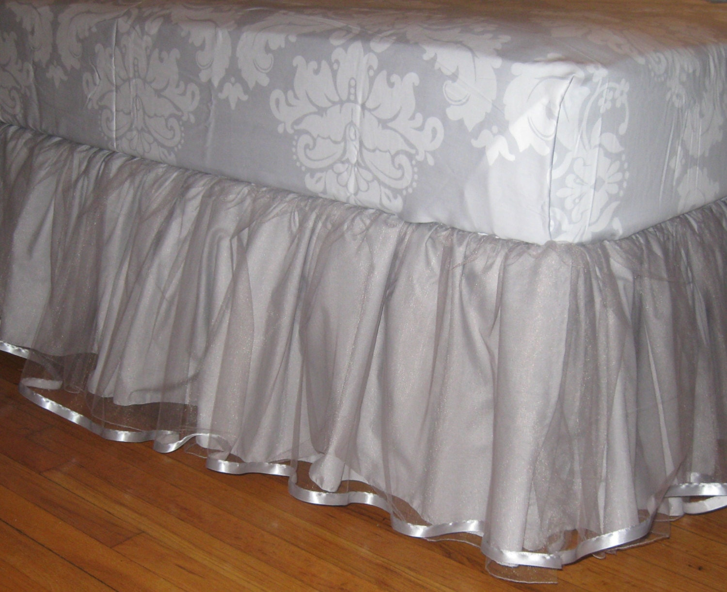 Light Grey Bed Skirt Full : Daybed tulle bedskirt select your size multiple colors