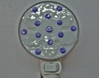 Snowflake Night Light - Snowflake Nightlight - Fused Glass Nightlight