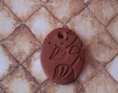 Essential Oil Diffuser Necklace Oval Terracotta Leaf