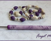 """Paper Bead Roller and Quilling Tool - Choose 1/8"""" or 3/32"""" - Forget Me Not Design Kraft-i Roller - paper bead tutorial included"""