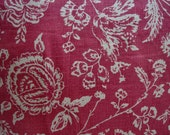 "FRENCH ReD 20"" Down Pillow/Linen Toile/ CoTTaGe Shabby/Shabby Chic/Loft/Throw Pillow/Bedroom/Urban Chic"