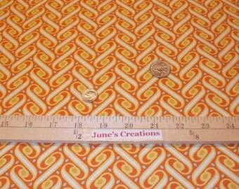 FALL Days Free Spirit Fabric Joel Dewberry Heirloom Ribbon Lattice Amber Orange Gold Yellow 1 One Yard 100% Cotton Quilting Sewing Supplies