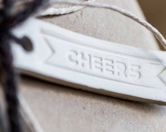 "Gift Tag: ""Cheers"""