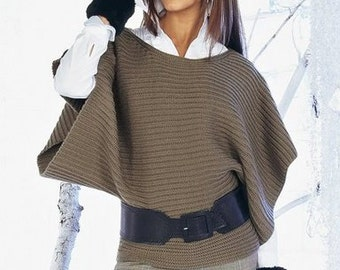 A beautiful handmade knitted winter top/blouse