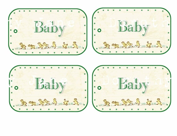 New Baby Boy Gift Tag : Baby duck gift tags shower tag newborn