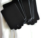 LAST Chalkboard {10} Black Retro Tags Unthreaded Scrapbookinh Embellishments DIY Holiday Gift Wrap Merchandising - seen Front Page Etsy