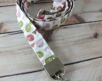 Fabric Lanyard ID Badge Holder - Gift Wrapped, Great Teacher Gift - Birdies