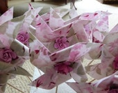 Pinwheel Cupcake Flags - Shabby Ashwell Rosalie Chic  - 12 Fabric  Cake Toppers, use for a Baby Shower, Birthday, or a party