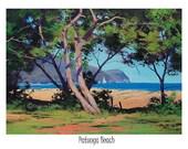 Painting print wall art prints from my Original Oil Painting Beach Art