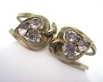 Vintage Bracelet - Rhinestone Clamper