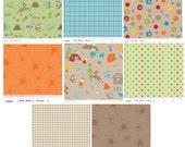 Fox Trails Fabric by Riley Blake - 1/2 Yard Bundle - Sale - Almost Gone