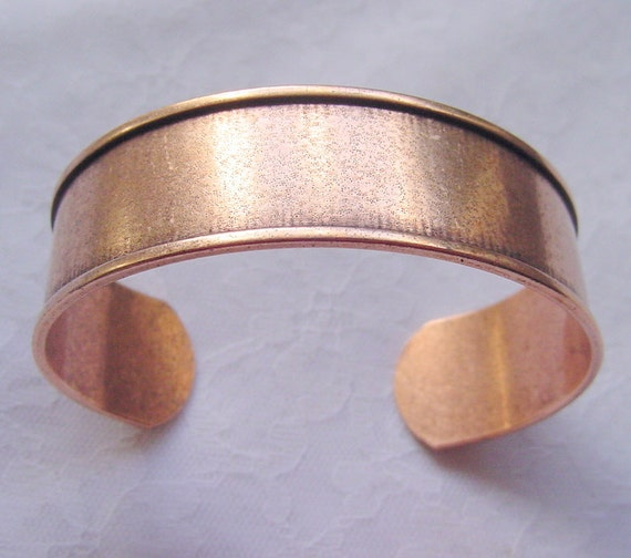 Cuff Channel Bracelet Blank .75 Inch Copper Plated ND178