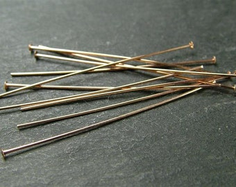 "Rose Gold Filled Headpin ~ 24 gauge ~ 1"" ~ Pack of 10 (CG5115a)"