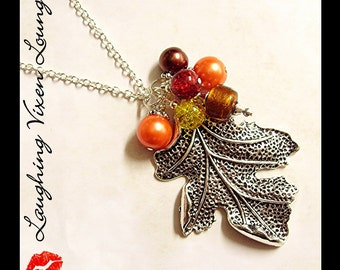 Fall Necklace - Fall Jewelry - Autumn Jewelry - Falling Leaves Necklace Style B - Leaf Necklace - Autumn Necklace - Thanksgiving Jewelry