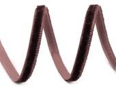 Velvet Czech Republic 2 Yards Tiny Rayon Velvet Ribbon Trim Chocolate Brown 5mm Wide