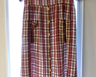 Vintage Dress by Erica in Size Large L Hippie Boho Prairie Modest Possibly from the 1980's