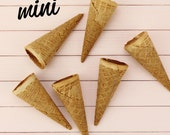 Mini Ice Cream Cones - 24 tiny cones for cakepops, gelato or ice cream