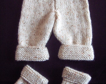 Premature Small Baby Trousers & Socks Knitting Pattern