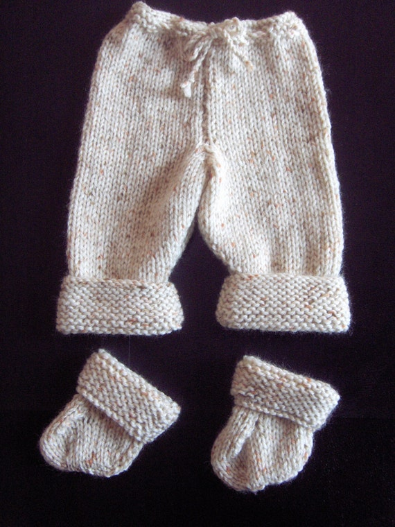 Knitting Pattern For Small Socks : Premature Small Baby Trousers & Socks Knitting Pattern