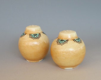 Salt And Pepper Shakers Soda Fired