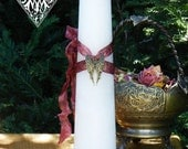Sacred Memorial Torch Light Memorial Candle to Dispel the Darkness and Light the Way for the Departed 2x9 Pillar Candle