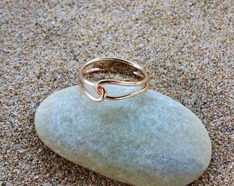 Gold Filled Love Knot Ring For Bridesmaid, Brides, Best Friends