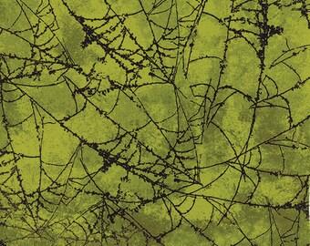 Spiderweb Green Eerie Wicked Moda Fabric 1 yard