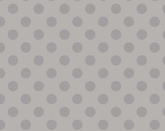 Grey Two Toned Polka Dot Diaper Clutch with a Pocket- Ready 2 Ship