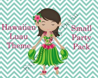 DIY Printable Hawaiian Luau Theme Small Party Pack