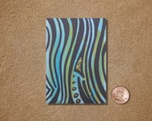 Stripes ACEO Original Watercolor Painting