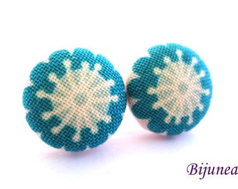 Flower earrings - Blue flower earrings - Flower stud earrings - Flower studs - Flower post earrings - Flower posts sf1159