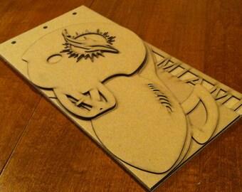 Football Scrapbook - Miami Dolphins - custom Sport scrapbook chipboard album BLANK 6pg