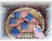 Primitive Grubby Americana Flag Bowl Fillers,tucks,Summer Prims,4th of July,Americana OFG TEAM