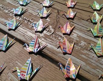 Origami small cranes