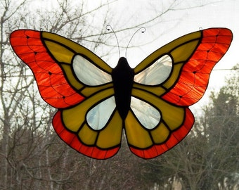 Large Butterfly Stained Glass Suncatcher