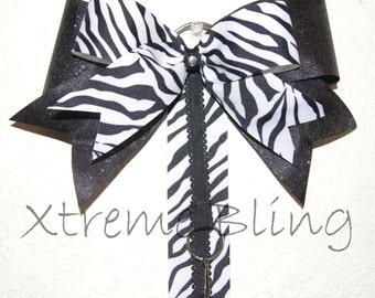 Black & White Bow Holder/Cheer Bow Holder