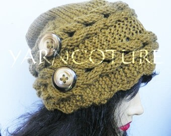 Rapunzel's Crown Winter Hat - Braided Hat -  w/Satin Lining Option -  Braided Fiber Art Design  - Hand Knit Hat / YOU Choose The Colors
