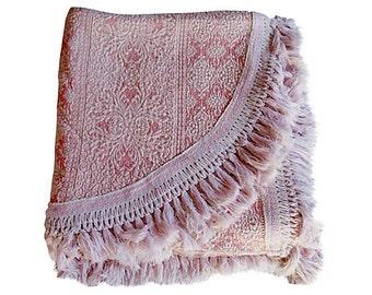 Vintage Italian Silk Brocade Bellissimo pink bedspread cover