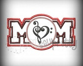 Band Music Mom Embroidery Applique Design