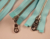 """Turquoise open zipper from Marimekko, can be used from both ends, 27"""""""