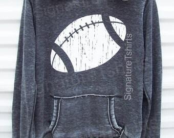 Football Hoodie - Womens Sweatshirt - girly sweater - pullover - sport hooded sweatshirt - Christmas Gift
