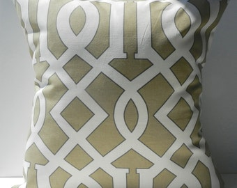 New 18x18 inch Designer Handmade Pillow Cases in coffee imperial trellis style pattern