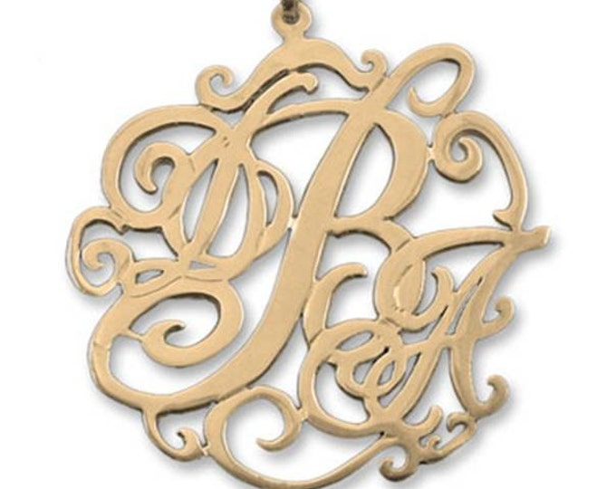 14K Gold Lace Monogram Necklace- choose from 4 styles and 2 sizes