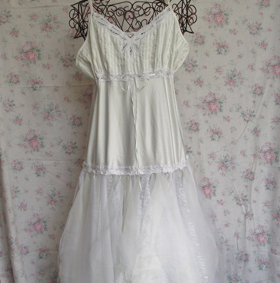 Items Similar To Wedding Slip Dressivorywhitecream