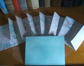 Set of 8 A2 Green and Grey Statonery and Card Envelopes