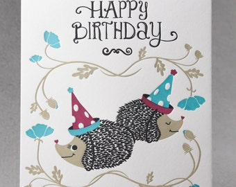 Unique Hedgehog Cards Related Items Etsy